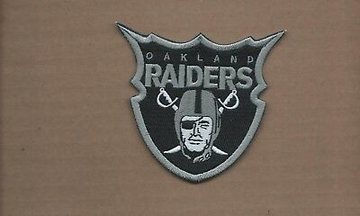 New 4 Inch Oakland Raiders Super Shield Iron On Patch Free Ship E1