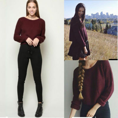 Warm Winter Long Sleeve Sweater Women Pullover Thick Knitted Top Soft Elasticity
