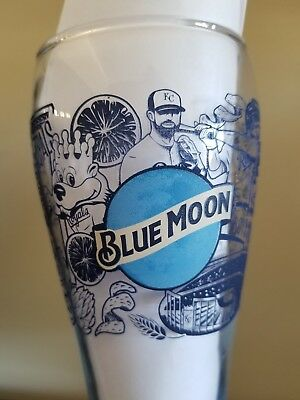 Rare Blue Moon Beer Glass Kansas City Royals Boys in Blue Collectible