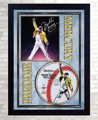 Freddie Mercury  Queen Tribute Concert SIGNED FRAMED PHOTO CD Disc