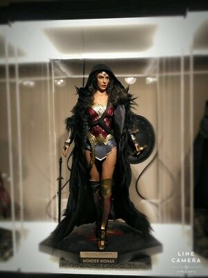 VSTOYS 1/6 Wonder woman Only Black Wired Cape Cloak Coat For 12'' Figure Toys