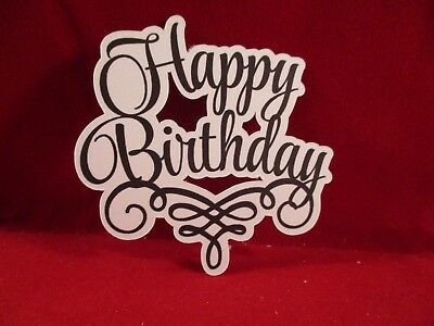 8 Happy Birthday Sentiment Die Cuts..........style 2..........Cardmaking