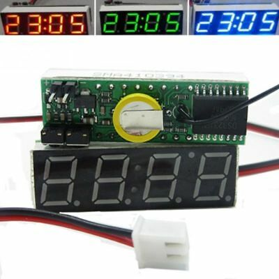 3 In 1 Car Vehicle Digital Tube LED Voltmeter Thermometer Automobile Electronics