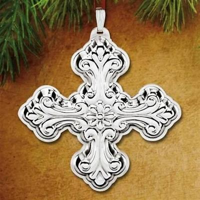 "Reed & Barton ""2016 Christmas Cross 46Th Edition Sterling Silver Ornament""  New"
