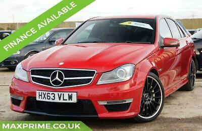 2013 (63) Mercedes-Benz C63 6.3 V8 Amg Mercedes Dealer History Imola Red