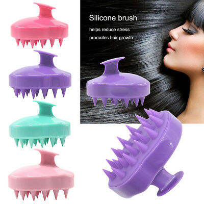 Silicone Shampoo Scalp Shower Washing Hair Massage Massager Brush Comb