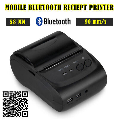 Portable Bluetooth 58mm 90mm/S Thermal Dot Receipt Printer Android Phone/Tablet