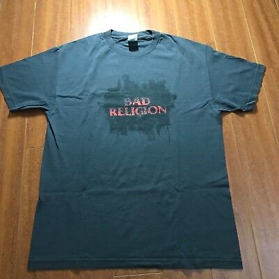 Bad Religion New Maps of Hell 2007 Tour Shirt Mens L Large Gray