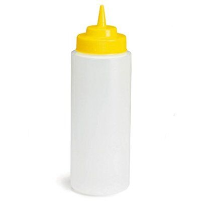 Natural Squeeze Sauce Bottle with Yellow Top 32oz / 945ml - Squeezy Mustard for