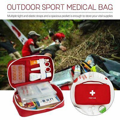 First Aid Kit Bag Emergency Medical Survival Treatment Rescue For Travel