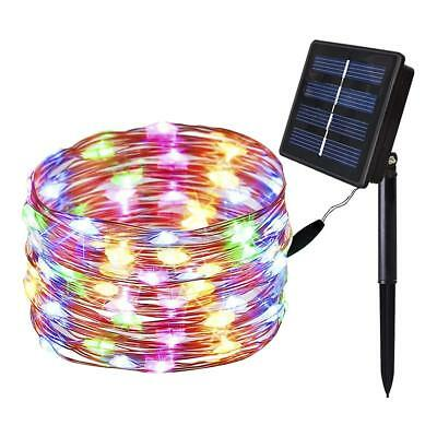 Outdoor Solar LED String Copper Wire Fairy Light Decor Xmas Party Garden Lamp US