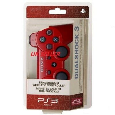 UK Seller Red Wireless Bluetooth Remote Controller Gamepad Joystick For PS3