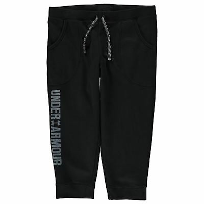 Under Armour Armour Cotton Capri Joggers Black Junior Girls (XLG) 13 New Tags