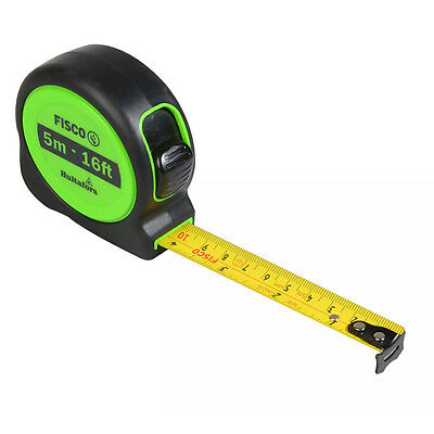 Hultafors Fisco 5m (16ft) Hi-Viz A1-Plus Tape Measure & Belt Clip, XMS18TAPEA15