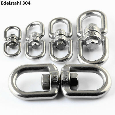 Boat Marine Clip  Stainless Steel Swivel Double Eye Hook 47MM-106MM