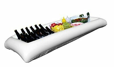 Oaklyn White Inflatable Serving Bar Buffet - Drink Holder Tray Cooler - Portable