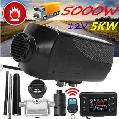 5KW 12V 5000W Diesel Air Parking Heater Air Heating LCD Thermostat + Silencer RY