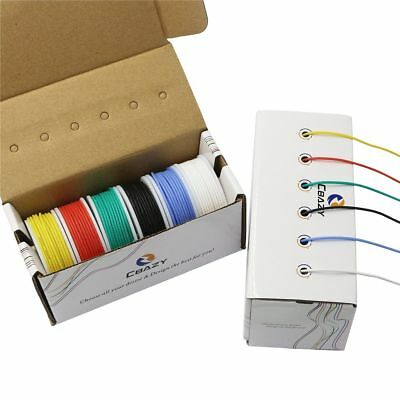 CBAZY Hook up Wire Kit 22 Gauge Flexible Silicone rubber Electric wire 6 colors