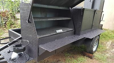 Perfect Draft Blower BBQ Smoker Grill Trailer Food Mobile Catering Concession