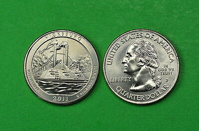 2011- P&D  BU Mint State (Vicksburg) US National Park Quarters (2 Coins)