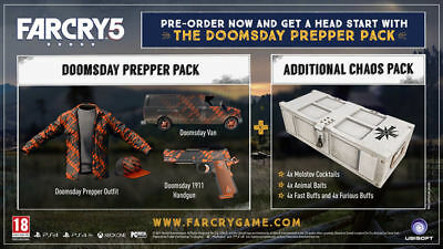 Far Cry 5 Doomsday Prepper Pack +Chaos Pack Dlc Xbox One