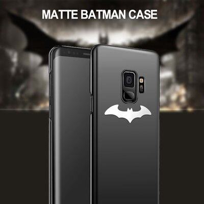 Samsung Galaxy S9 S8 Plus Note 8 9 3d Silver Batman Case Rubber Cover Shockproof