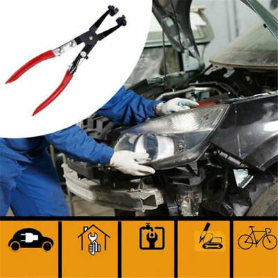 Car Pipe Hose Clamp Pliers Fuel Coolant Clip Curved&Straight Throat Home Tool HS