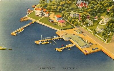 Rhode Island Postcard: Aerial View Of The Lobster Pot, Hope St. Bristol, Ri