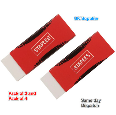 Large Erasers Sleeve RUBBER Pencil School Drawing STATIONERY Eraser Pack of 2
