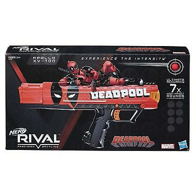 Deadpool Nerf Rival Apollo XV-700 Blaster Toys R Us Exclusive w/7 Round Magazine