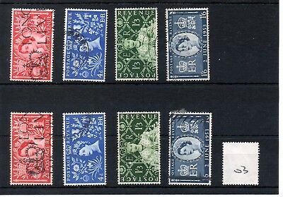 Gb - Wholesale Commems - 1953 - (003) - Coronaton - Two Sets - Used