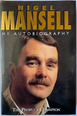 Nigel Mansell Hand Signed Autobiography Book -  The People's Champion 1.