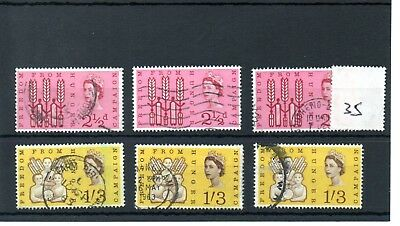 Gb - Wholesale Commems - 1963 - (035) - Freedom From Hunger  - Three Sets - Used