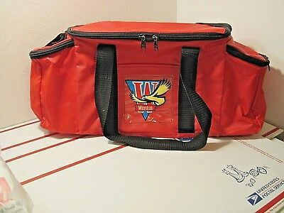 Winston Cigarettes Winston Cup Racing  Insulated Cooler Duffel Bag Red Vintage