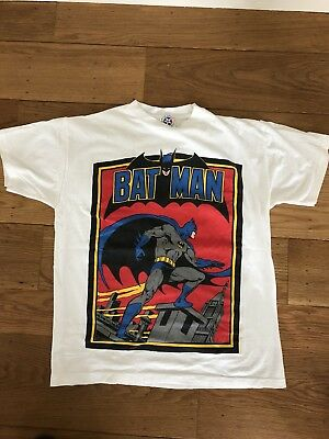 VTG 1988 Batman T Shirt  Large USA Robin Joker Marvel DC Comics