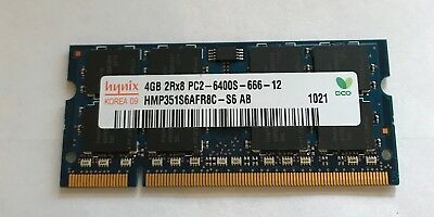 HYNIX HMP351S6AFR8C-S6-AB 4GB 2RX8 PC2-6400S-666-12 Laptop Ram
