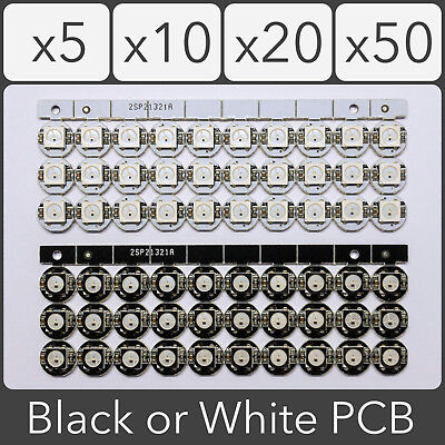 WS2812B PCB 5050 SMD Addressable Digital RGB LED 4 pin Chip 5V - Black or White