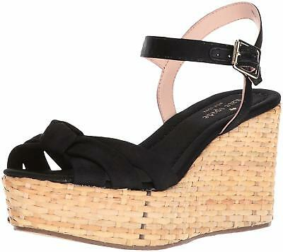 c6c4799d22 KATE SPADE TILLY Pink Straw Wedge Sandals Shoes 9 New - $79.99 ...
