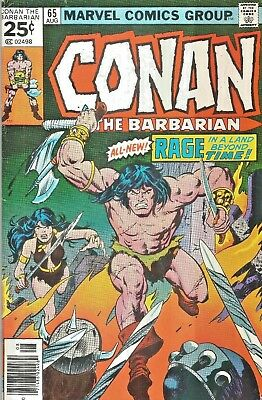 Conan The Barbarian Original Series #65  John Buscema  Marvel 1976  Nice!!!