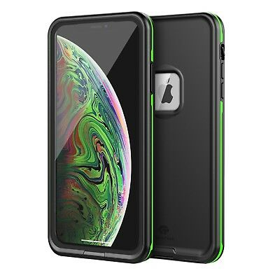 For Apple iPhone XR XS Max Waterproof Case Cover Fre Built-in Screen Protector X