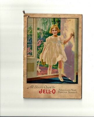 1917 Antique Collectible Exquisite JELL-O Dessert Booklet with insert