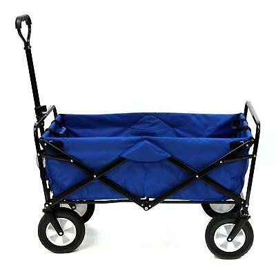 Collapsible Folding Steel Frame Outdoor Utility Wagon Blue
