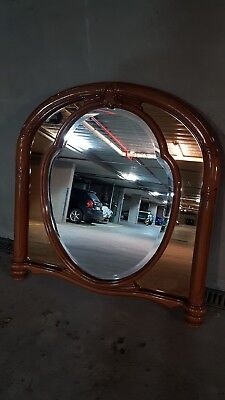 Vintage Mirror Style Classic With Frame Wood