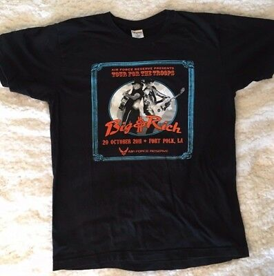 Big & Rich Air Force Reserve TOUR FOR THE TROOPS 2011 T-Shirt Cotton Large
