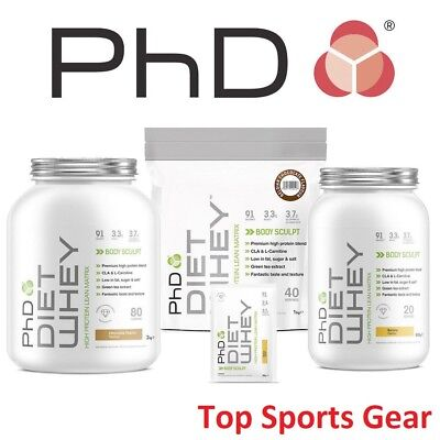 PhD Nutrition Diet Whey Protein 1kg or 2kg Weight Loss Shake BEST PRICE