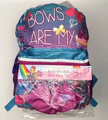 JoJo Siwa Pink Dance Bag School Backpack Bows are my Super Power Sequin FREE BOW
