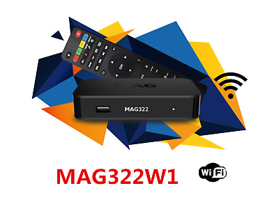 BRAND NEW MAG322 W1 IPTV Set-Top-Box build-in wifi + HDMI MAG322W1 by INFOMIR