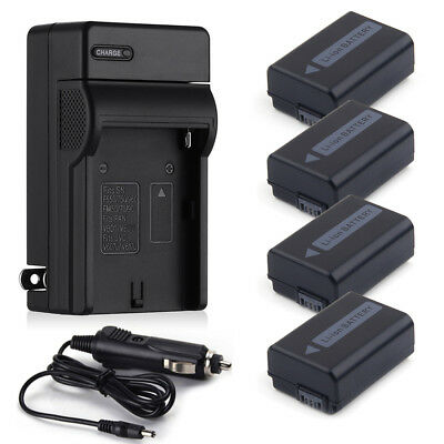 NP-FW50 Battery + Charger for Sony Alpha A6300 A6500 A5000 A3000 A7 A7R NEX-3