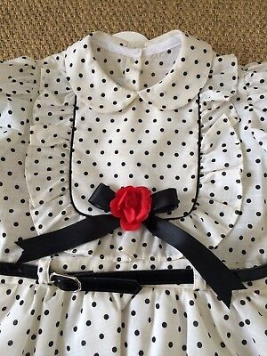 Tracy Sue Designer Vintage Dress 5 Years Polka Dot Frill Party 4/5 1980s