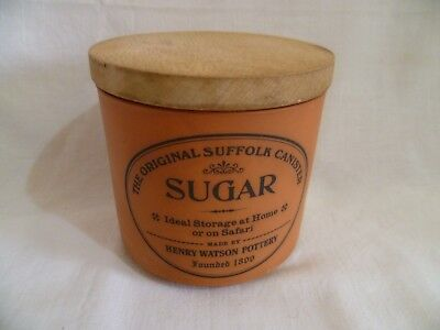 Vintage Henry Watson Pottery Terracotta Sugar Suffolk Canister